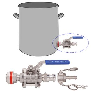 Weldless 304 SS 3-piece Ball Valve with Quick Disconnect Kit Fit 1 2