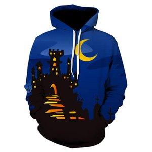Bahar Erkek Kazak Kapşonlu Sweatshirt Erkek Giyim Cadılar Bayramı Erkek Tasarımcı Kapüşonlular Uzun Kollu