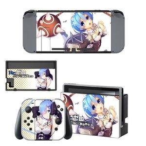 Re Life in einer anderen Welt von Zero Decal Haut Aufkleber für Nintendo Schalter NS-Konsole + Controller + Standplatz-Halter-Schutzfolie