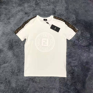 Geben Sie Schiff frei HOT Brandshirts Designerluxury Frauen-T-Shirt Art und Weise FF Brief beiläufigen Sommer-Tees Qualitäts-Luxus-Mädchen-T-Shirt C1 B105584L