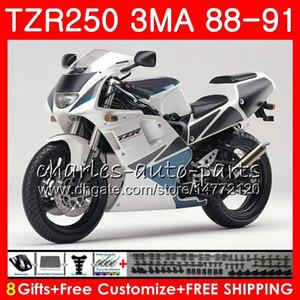 Кузов для YAMAHA TZR250 3MA TZR-250 1988 1989 1990 1991 118HM.51 tzr250 работает РС YPVS TZR250RR ТЗР 250 рублей 88 89 90 91 белый обтекатель верхний обтекатель комплект