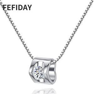 FEFIDAY Woman Long Stone Custom Choker Necklace Women Love Gift Pendant Heart Necklace Women's Jewelry Fashion Necklaces 2020