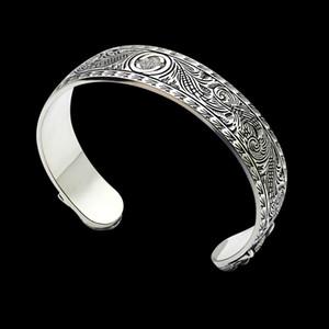 prata aço pulseiras banhados luxo de estilo retro quente inoxidável homens abertura cabeça do tigre Face cinzelada e mulheres pulseiras jew casal feriado