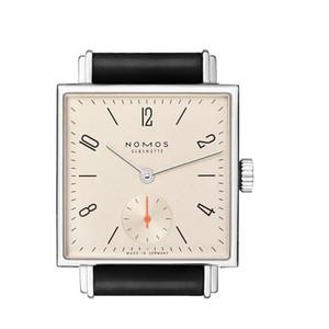 HOT Nomos relógio Moda quadrado Relógios Casuais 33mm 40mm Mulheres Homens Vestido Relógios de Couro Vestido de Presente relógios de Pulso