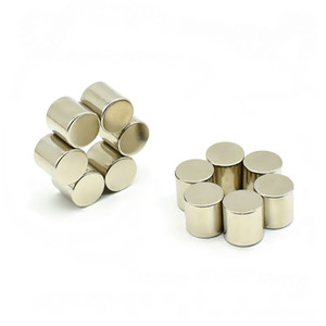 """10x10mm Diametrically Neodymium Magnets Magnetic Cylinder Poles on the Curves Metal Magnet for DIY Crafts Experiment 0.39"""""""