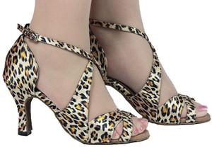 XSG Leopard Latin dance shoes женские туфли на высоком каблуке танцы женщины бальные танцы обувь для взрослых латинский танец мягкое дно обувь квадратная на заказ