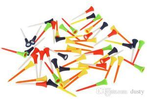 Multi colore 50 pezzi / borsa Cuscino in gomma plastica Top golf Tees Accessori golf 83mm Durevole aiuto per la formazione golf