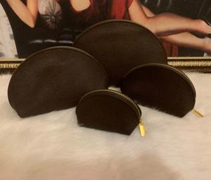4pcs / set bolsas de cosméticos mujeres recorrido famoso diseñador bolsa de maquillaje bolsa componen señoras de bolso Cluch bolsos Organizador neceser