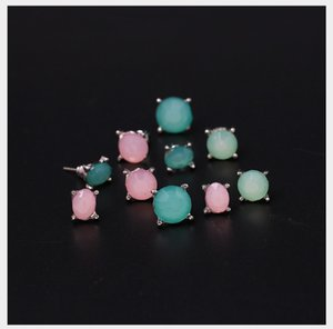 blingbling wholesa Orecchini collezione Vintage orecchini pendenti con diamanti con accessori semplici Set in lega con pietre semipreziose di pietre artificiali