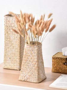 Seagrass Basket / Nordic / Vintage / Letteratura / decorativo / Flower Pot / fornire domestico / decorazione Protezione / ambientale / Tessitura / Fiore secco