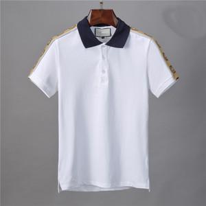 2020 Mensentwerfer polos Brand New High street Luxus Medusa Shirt Mode lässig Männer Polo Stickerei Biene Schlange Polo-T-Shirts