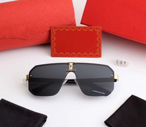 Мужские летние солнцезащитные очки бренд солнцезащитные очки Man Beach Goggle очки UV400 597 5 цветов высокое качество с коробкой