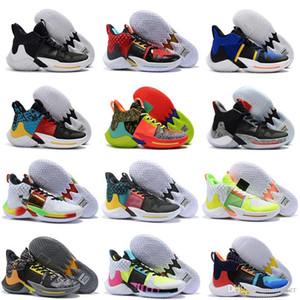 2019 новое поступление Russell Westbrook 2 Why Not Zer0. 2 Chaos Future History All Stars KB3 баскетбольная обувь Мужская мода спортивные кроссовки 40-46