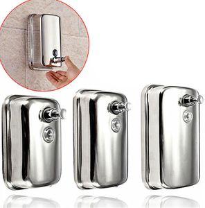 Liquid Soap Shampoo Dispenser Stainless Steel Lotion Pump Action Wall Mounted Bathroom Durable 500ml 800ml 1000ml LJJK2173