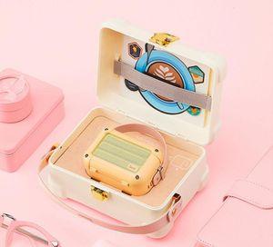 Новый Divoom макиато Bluetooth Wireless Speaker Peach Pink Metal Radio открытый портативный ручной музыкальный проигрыватель Сабвуфер