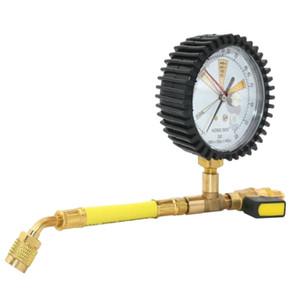 Freeshipping 1 / 4SAE Ar Condicionado Refrigeração Teste nitrogênio medidor de pressão simples Refrigerante Mesa para R134A R22 R410A