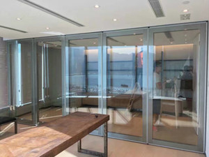 restaurant glass sliding door glass movalbe partition glass floding door movable wall partitioin operable wall partition whloesale