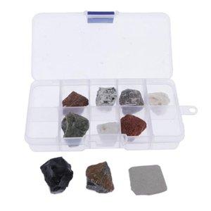 10pcs Eğitim Jeoloji Koleksiyonu Rocks Mineraller Çocuk Fen Oyuncak