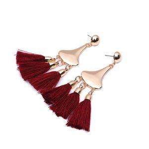 B-002 2019 hot tassel earrings Europe and the United States long bohemian retro tassel earrings female free shipping multicolor optional