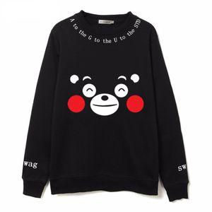 Fashion Kpop Bangtan Boys Fans Clothing Cartoon Kumamoto Bear Printed Fleece Sweatshirts Hoody Harajuku Kawaii Hoodies
