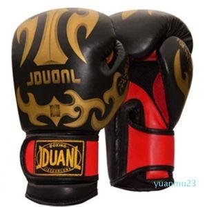 Gros-PU Matériel respirant 10 oz Homme Fitness Gants de boxe Muay Thai pour adultes de haute qualité de combat de boxe Équipement de protection 3 couleurs