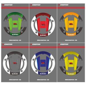 SUZUKI GSXR GSXR GSX R Yüksek Kalite Motosiklet Sticker 3D Yakıt Deposu Kapağı Yakıt Kapağı Sticker Yakıt Tankı Çıkartma