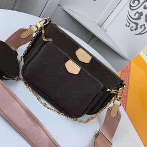 Borsa a tracolla della borsa multi Pochette Accessories Genuine Leather Bag L della spalla del fiore a tracolla borse delle signore di 3 pezzi borsa Zero