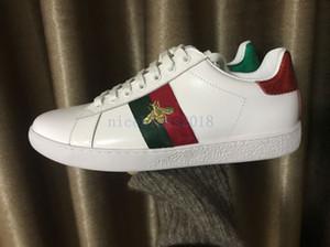 Sconto economici Uomini Donne Sneaker Scarpe casual Sneakers basse in pelle Ace Bee Stripes Scarpe da ginnastica sportive da passeggio Drop Shipping
