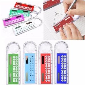 10cm Ruler Portable Calculators Students Count Solar Card Mini Multi-function Calculator Magnifying Glass Office & School Supplies