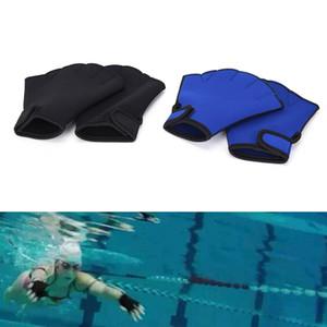 1 par de água Swim Luvas hidroginástica Jogger Piscina Mão webbed Swim Surfing Mergulho palmípede Neoprene Paddle Gloves