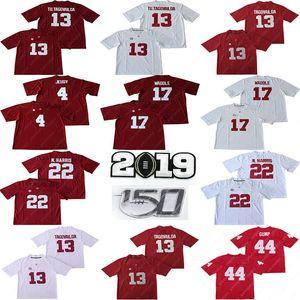 NCAA Alabama Crimson Tide Jersey cosida Fútbol 13 Tua Tagovailoa 4 Jerry Jeudy 44 Forrest Gump Najee Harris Jaylen Waddle