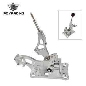 Pour moteur série Acura RSX / K EG EK DC2 EF Boîte de changement de vitesse à billettes / Bouton de changement de vitesse en fibre de carbone véritable sphérique manuelle PQY-PDZ001