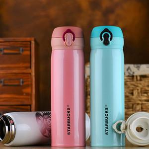 Água Aço Starbucks Copa do isolamento a vácuo garrafa do Thermos New inoxidável Duplas Hot Coffee Cup Viagem copo