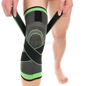 Homens Mulheres Suporte Joelho compressão mangas dor nas articulações artrite alívio Correndo Academia Elastic Enrole Brace Knee Pads Com Strap