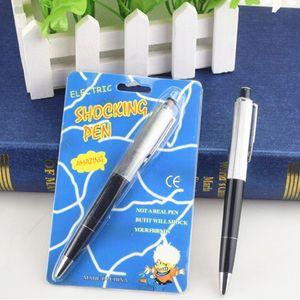 Bolígrafos parodia juguete Punto Pelota Fantasía divertido Pen impactante de la descarga eléctrica Broma regalo truco broma novedad de la diversión eléctrica pluma de choque TNT gratis