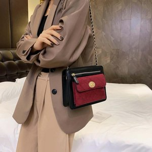 Frosted small bag women 2020 new retro fashion rhombus chain foreign style small Messenger bag
