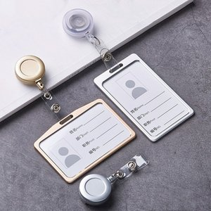 esk Accessories & Organizer Badge Holder & Accessories 1 Set Aluminum Alloy Card Holder with ABS Retractable Badge Reel Pull ID C...
