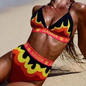 Maillots de bain Bikinis Sea Queen Bikini Ensembles de mode d'été sexy tankinis Bras Briefs 2pcs