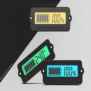 kurşun asit lityum pil coulomb ölçer voltmetre elektrikli bisiklet scooter parts7 için kabuk ile 878v LCD pil seviyesi göstergesi