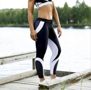 Hot Style Cross Border Geometric Cellular Digital Print Glutei Vita alta Sport Leggings da yoga