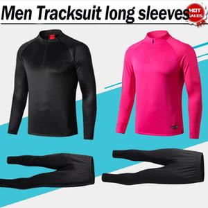 2020 Paris Tracksuit manica lunga colletto ad alto colletto di calcio da calcio 19/20 nero sportivo sportivo tuta rosa sweatsuit football uniforme da calcio top + pantaloni