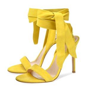 WETKISS Grande taille 15 romaine boucle cheville lacées sandales femme Sandales Parti sandales à talons hauts pour l'été