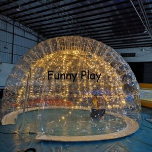 inflatable bubble house,double layer transparent bubble family wedding party bubble room for camping ,inflatable pvc dome tent