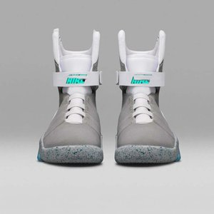 2020 New Top Air Mag Back To The Future Mcfly Led Mens To The Future Basketball Shoes Mens Lighting Marty Mcfly Led Mag Casual Sneakers