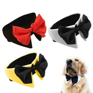 Pet Bow Tie Adjustable Costume Necktie Adjustable Neck Collar Exquisite Hand-made for Big Dogs and Cats
