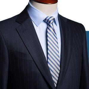 Custom Made To Measure Chalk Stripe Men Suits,Bespoke Charcoal Grey,Black, Dark Navy Blue Groom Tuxedos For Men Wedding Suits
