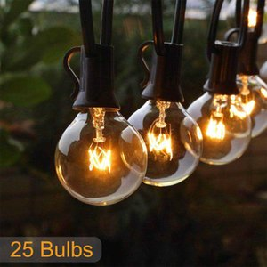 25FT Patio string light Christmas G40 Globe Festoon bulb fairy string light outdoor party garden garland wedding Decorative Y200603