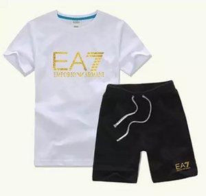 New Brand boy Kids Sets Kids T-shirt And Pant Children Cotton Sets Baby Boys Girls 2-9 years Summer Suit Baby Sport Suit 2Pcs Set boir9se