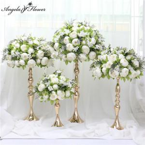 30 35 40 45 50cm fleur artificielle décor arrangement de pièce maîtresse de balle table de toile de fond arc de mariage pivoines soie balle fleur Bouqet