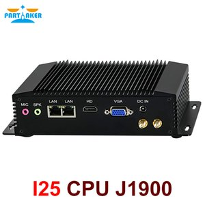 Dual LAN Mini PC Windows 7 Fanless Mini PC Intel Celeron J1900 RS485 COM USB WIFI industrial PC Desktop Computer